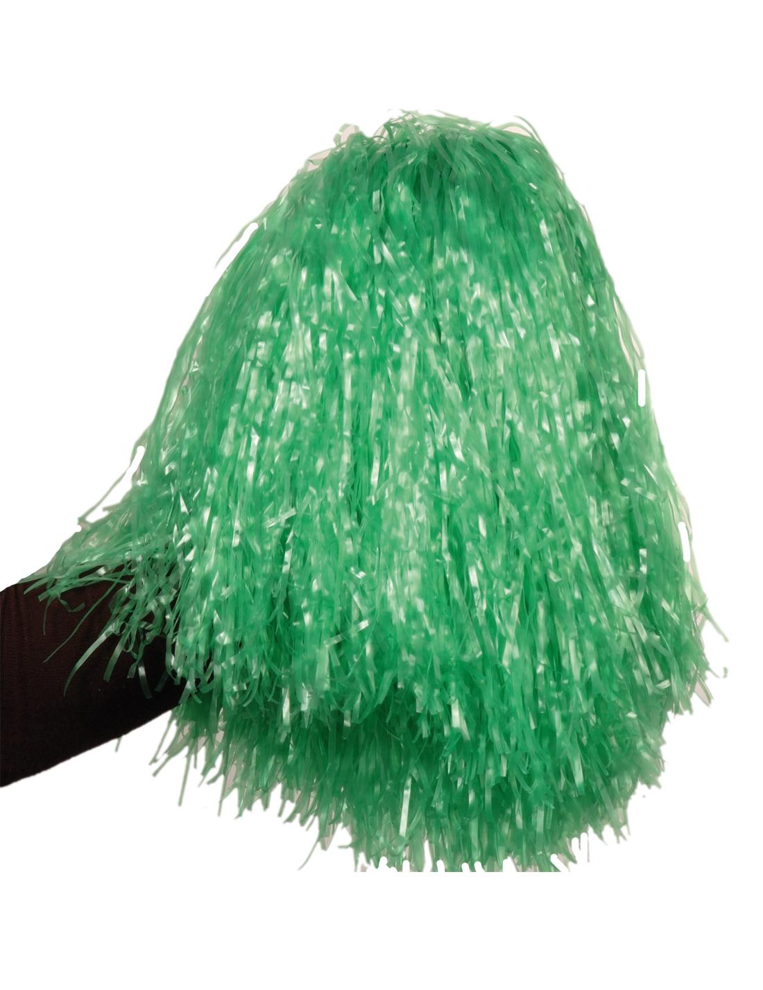 Pompon vert métallique