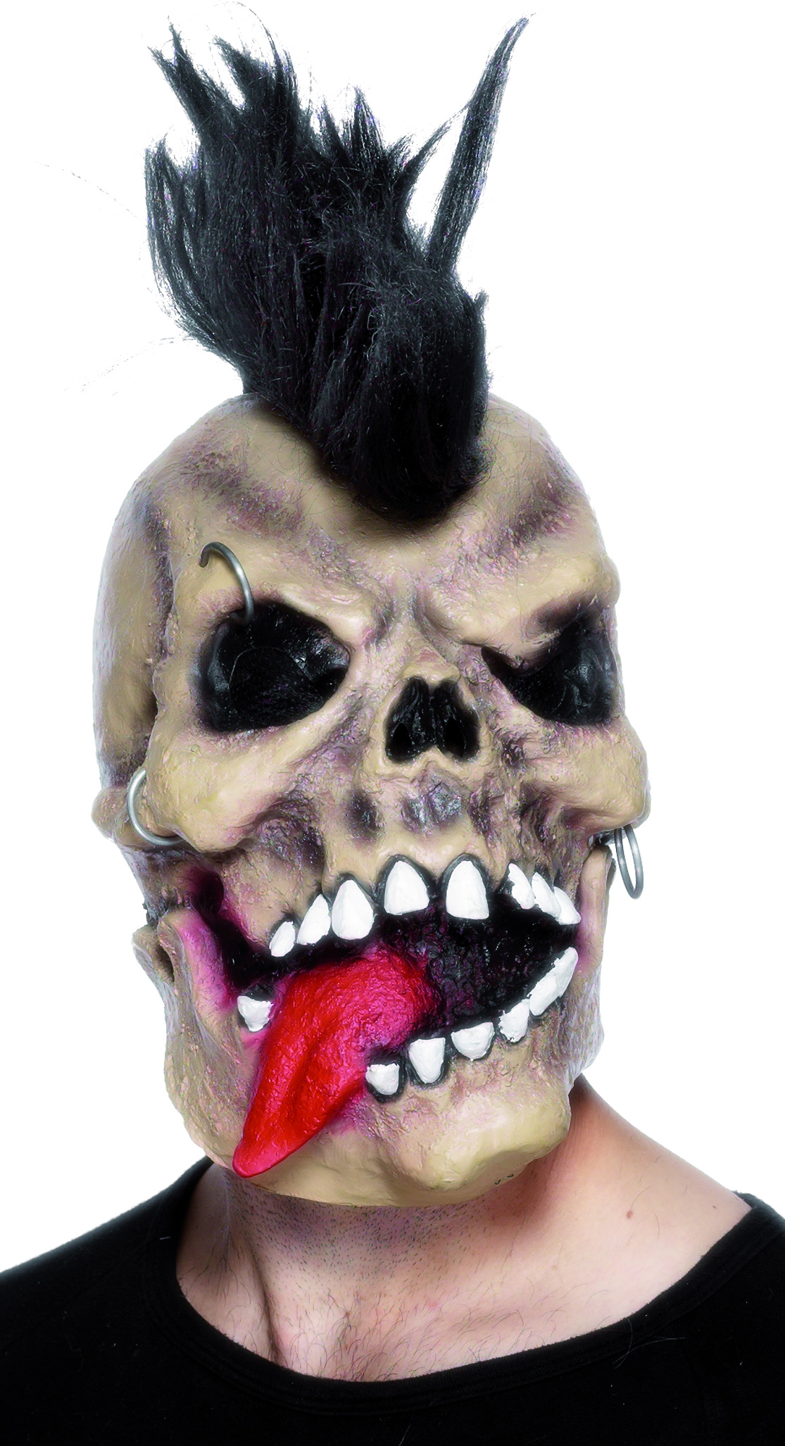 Masque squelette punk adulte Halloween