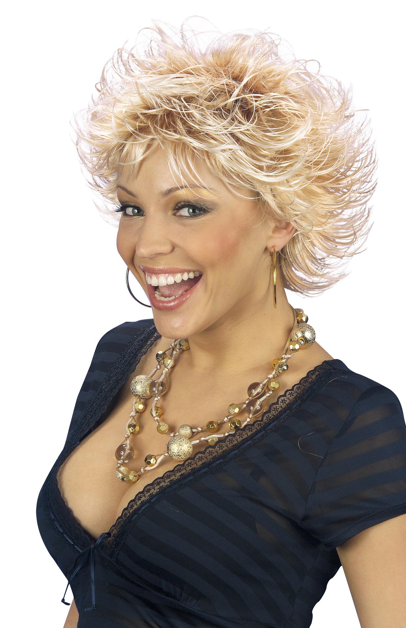 Perruque blonde stylée femme