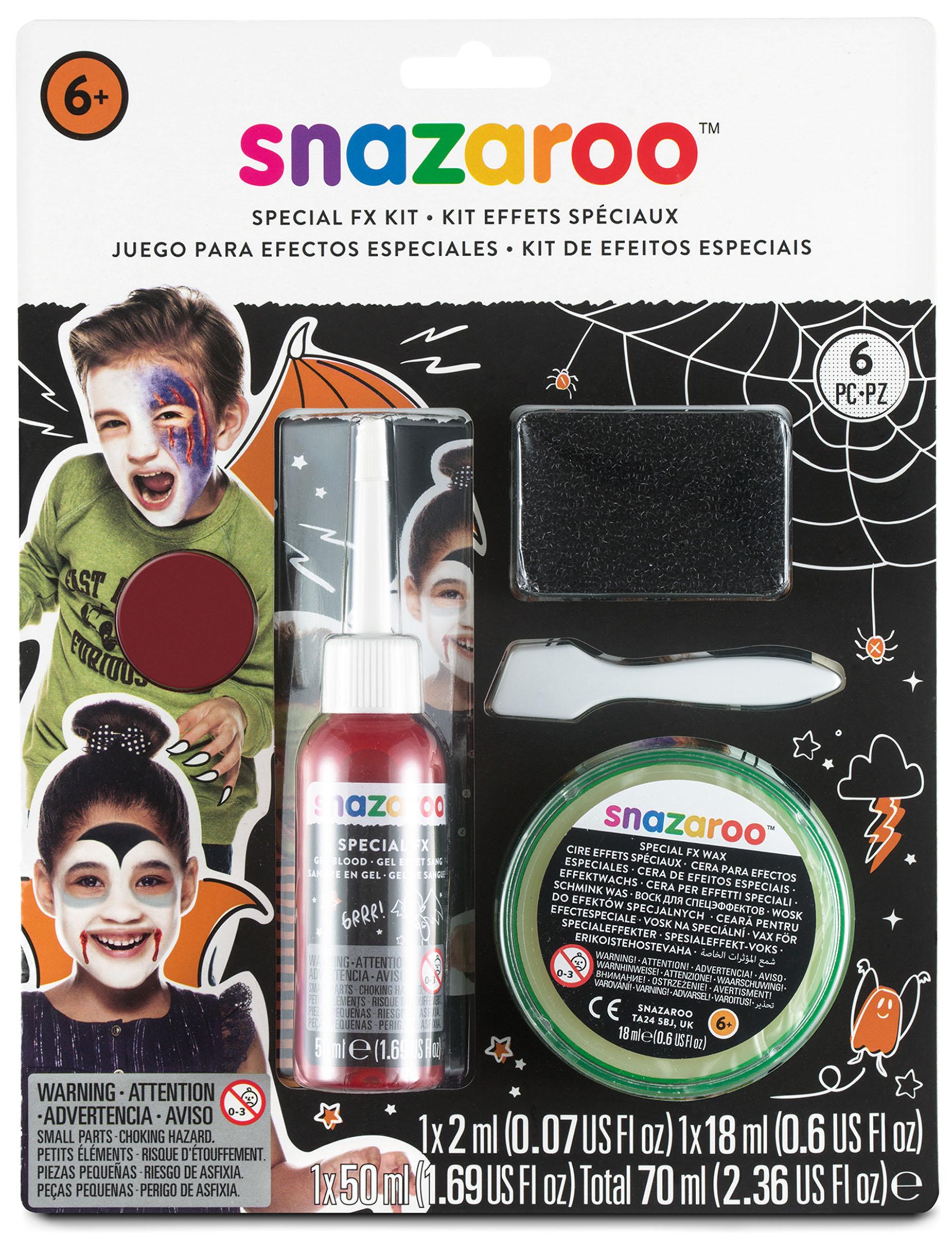 Kit effets spéciaux blessures FX Snazaroo Halloween