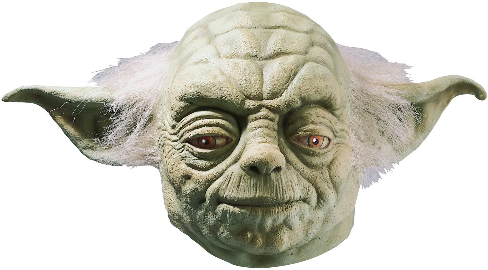 Masque latex luxe maître Yoda Star Warsadulte