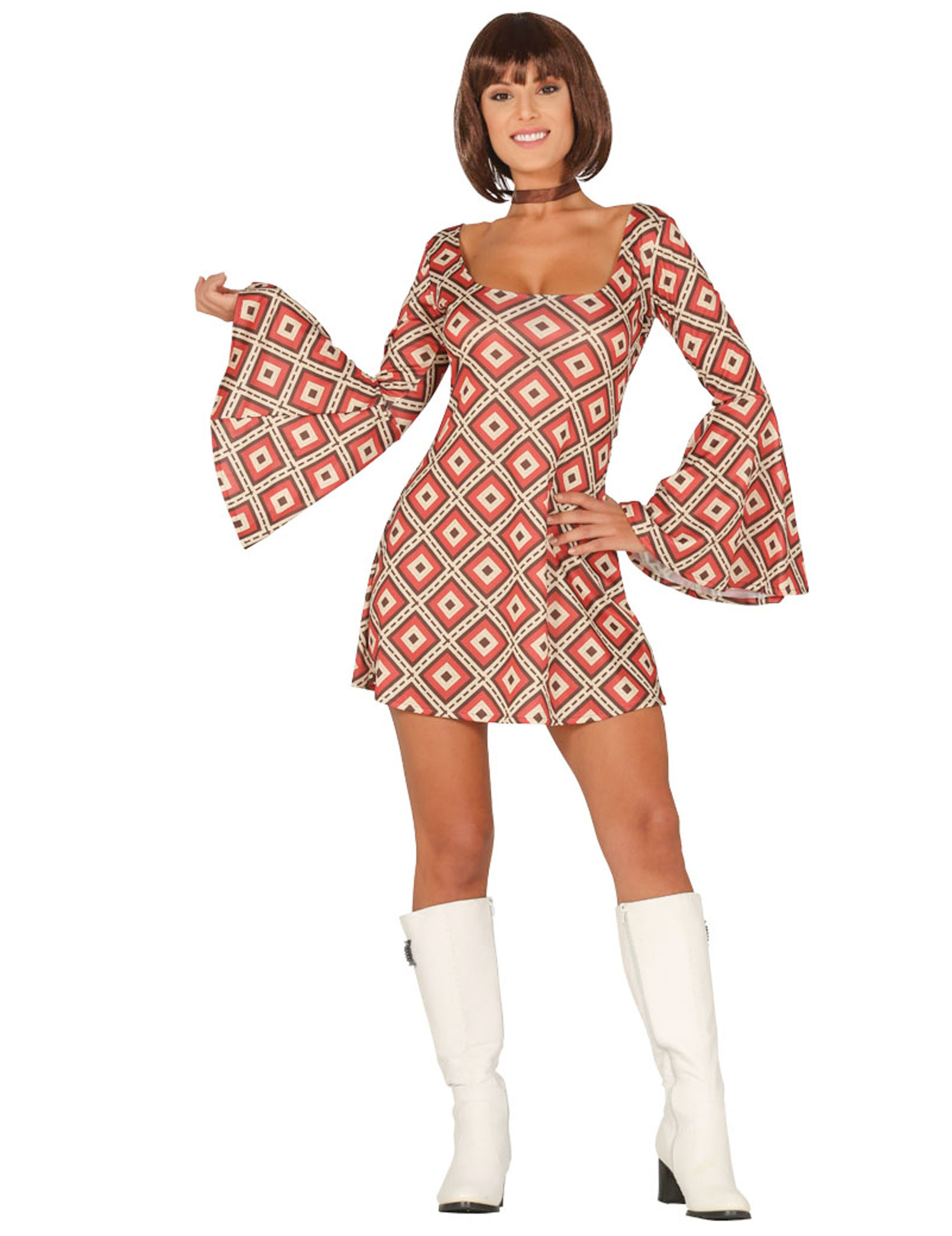 Déguisement robe disco losange femme