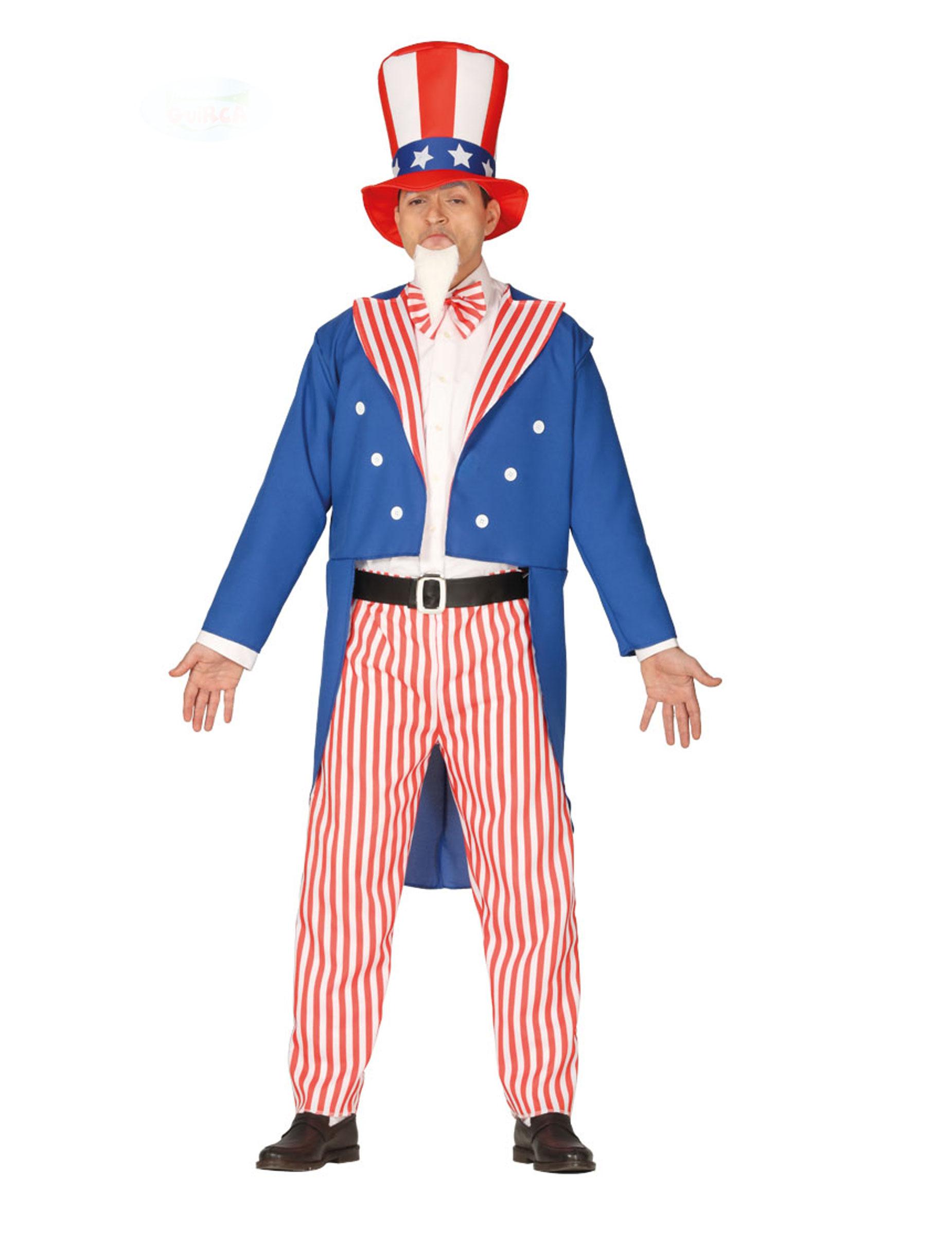 Déguisement patriote américain homme