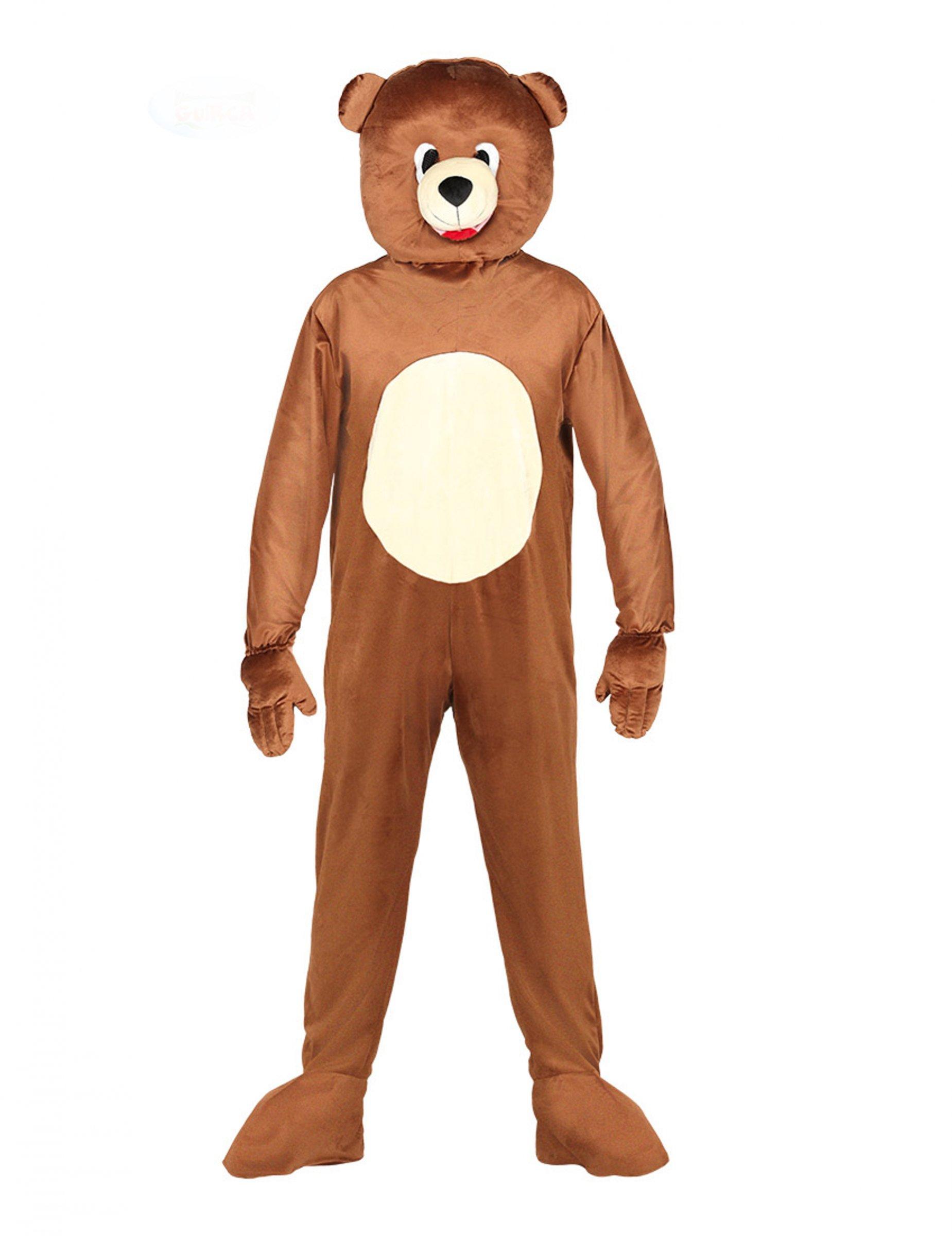 Déguisement combinaison mascotte ours adulte