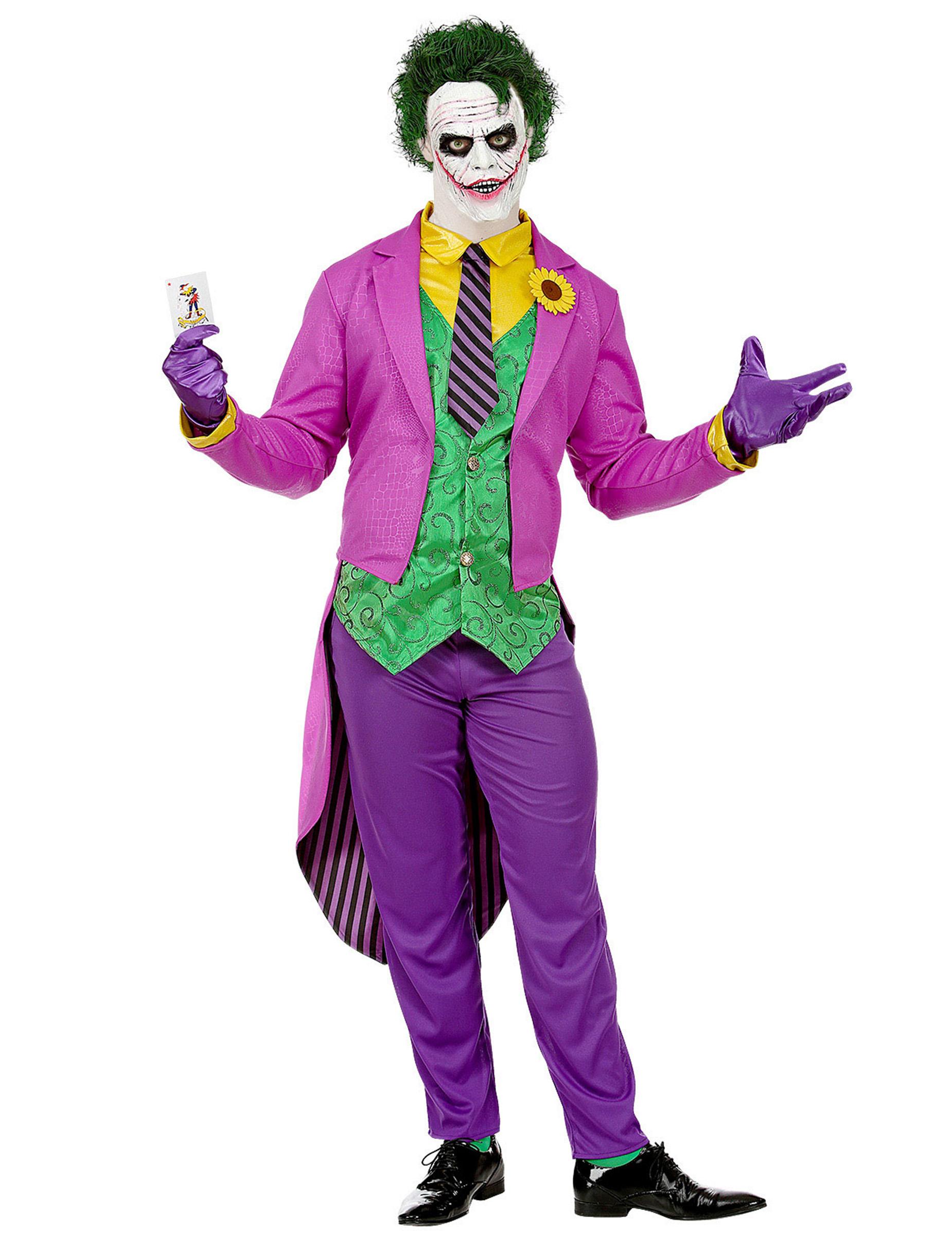 Déguisement psychopathe fou violet homme