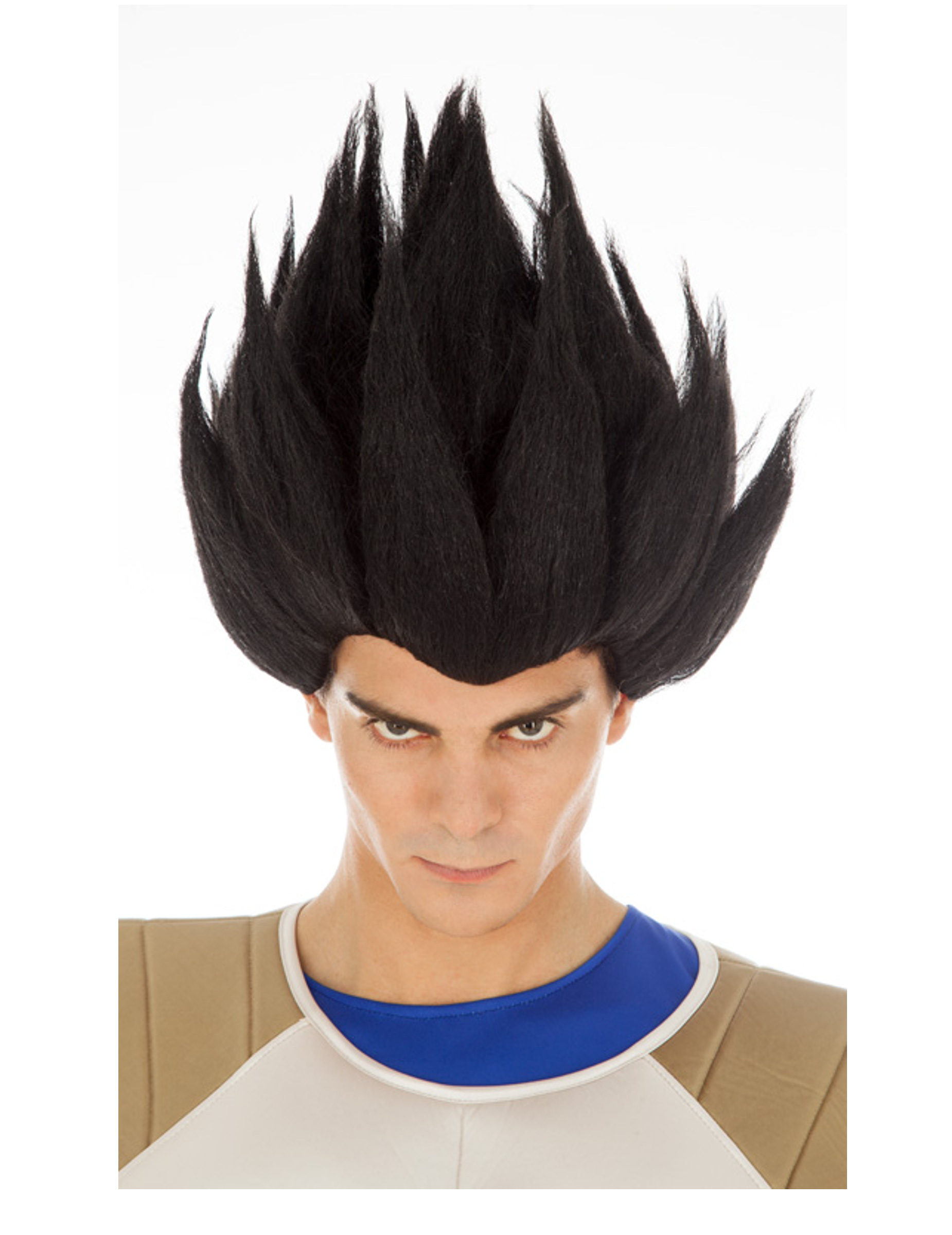 Perruque Vegeta Saiyan noire Dragon Ball adulte