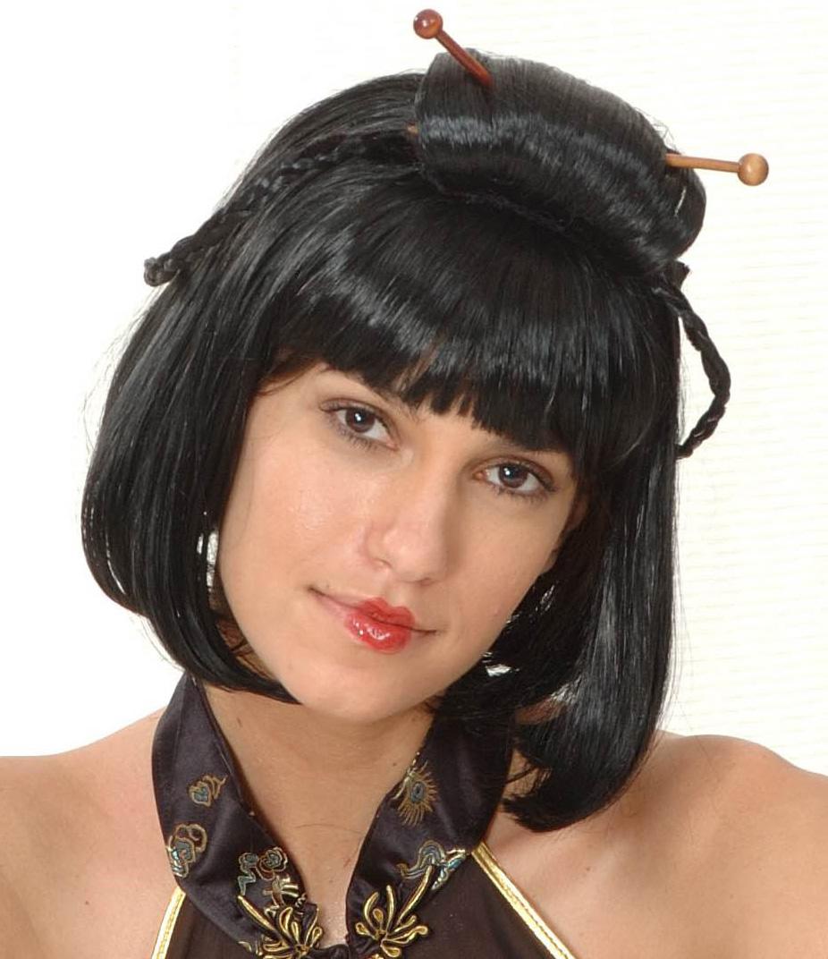Perruque noire chinoise femme