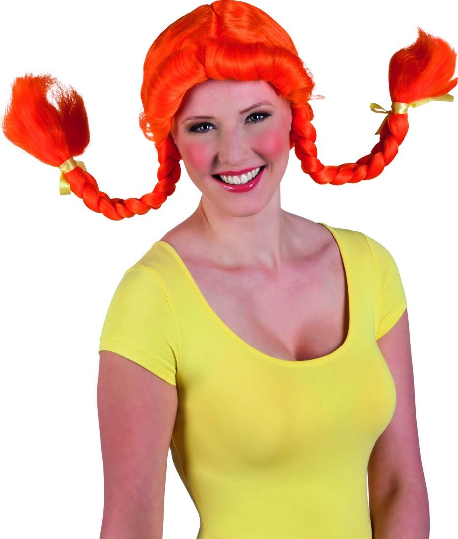 Perruque orange femme
