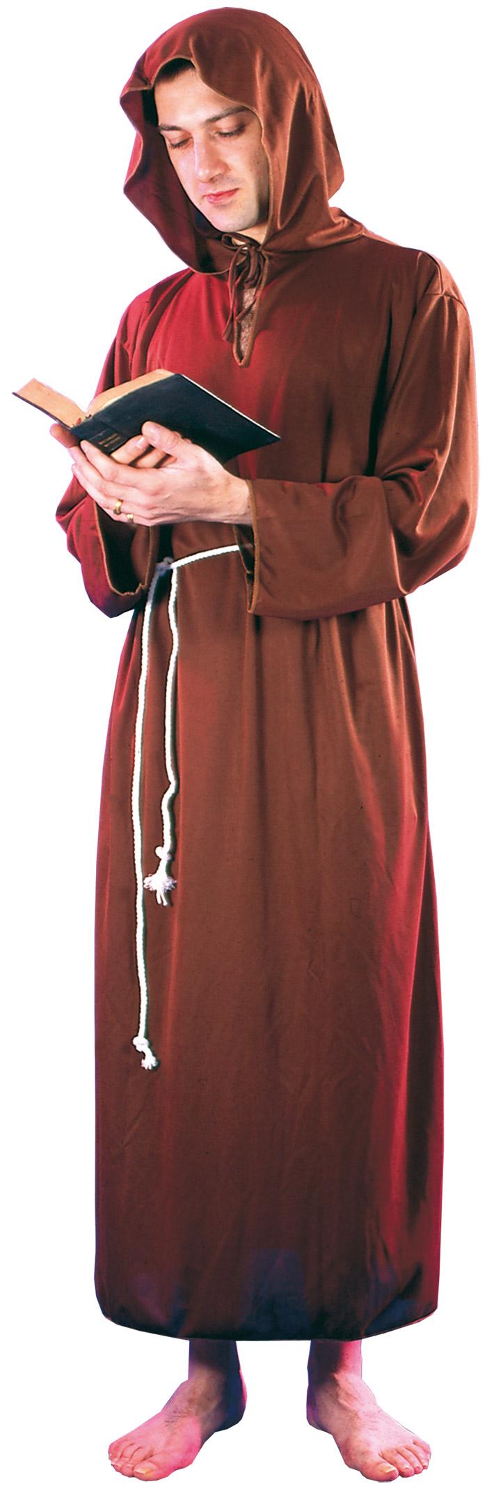 Déguisement moine marron clair homme