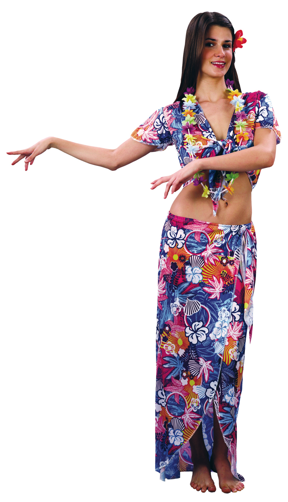 Déguisement touriste hawaïenne femme