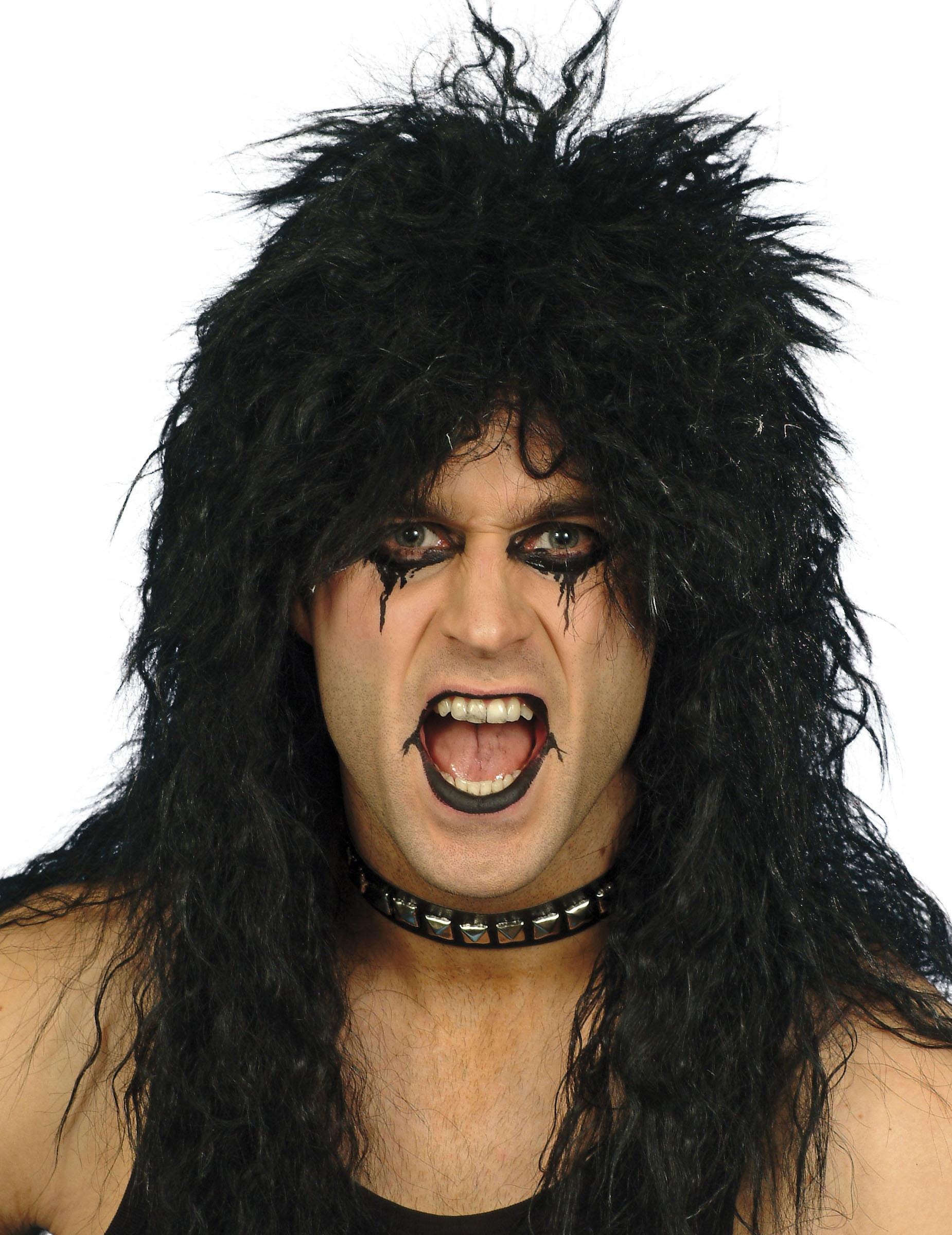 Perruque hard rockeur homme