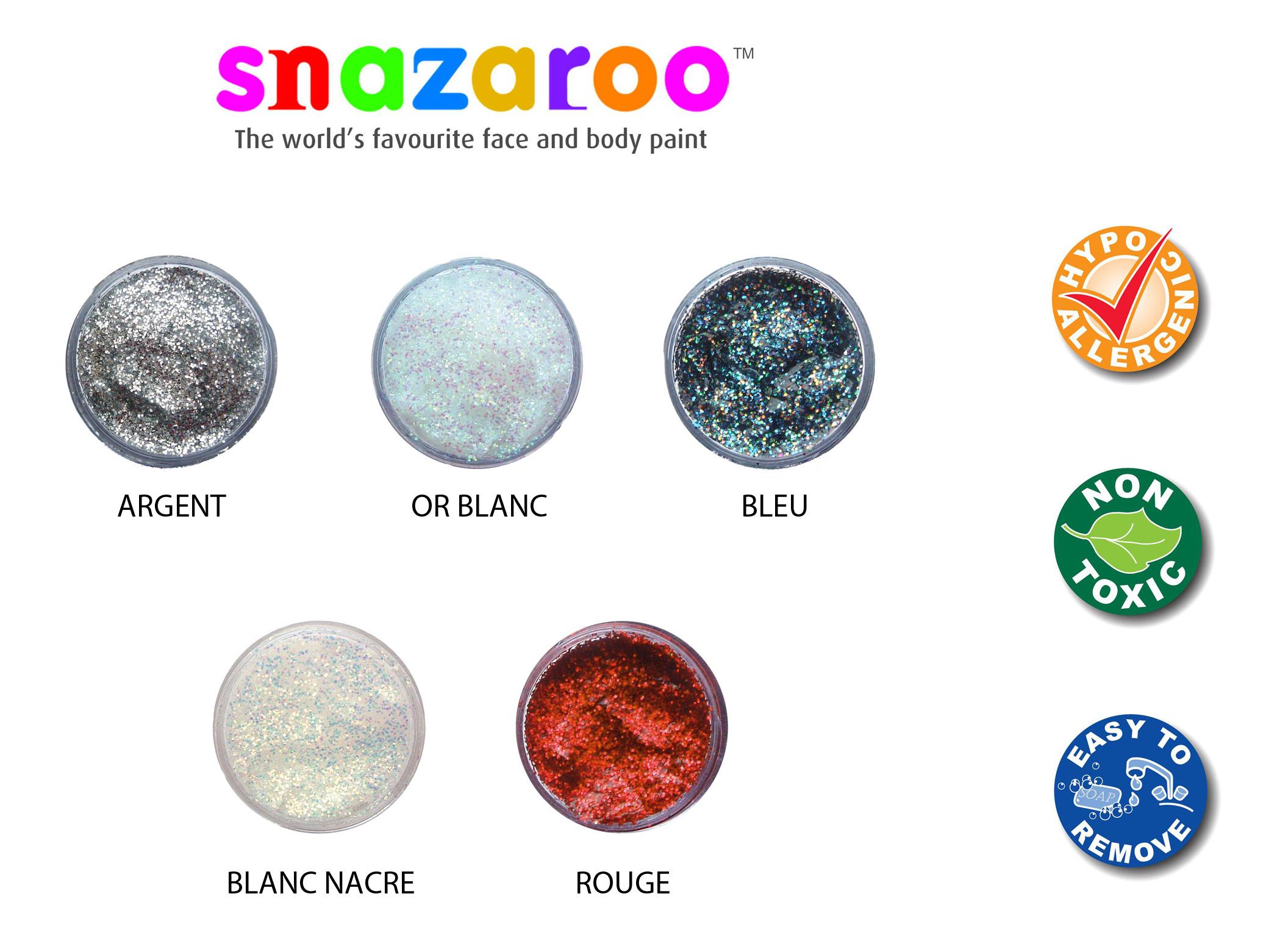 Gel à paillettes Snazaroo 12 ml