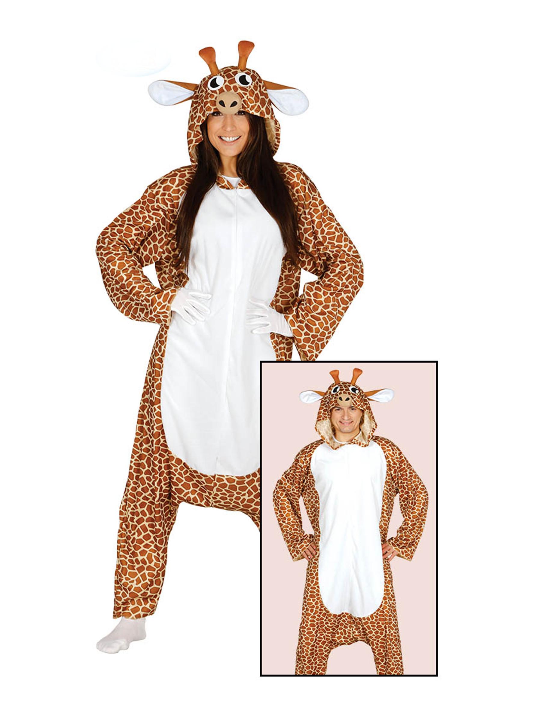 Déguisement combinaison girafe adulte