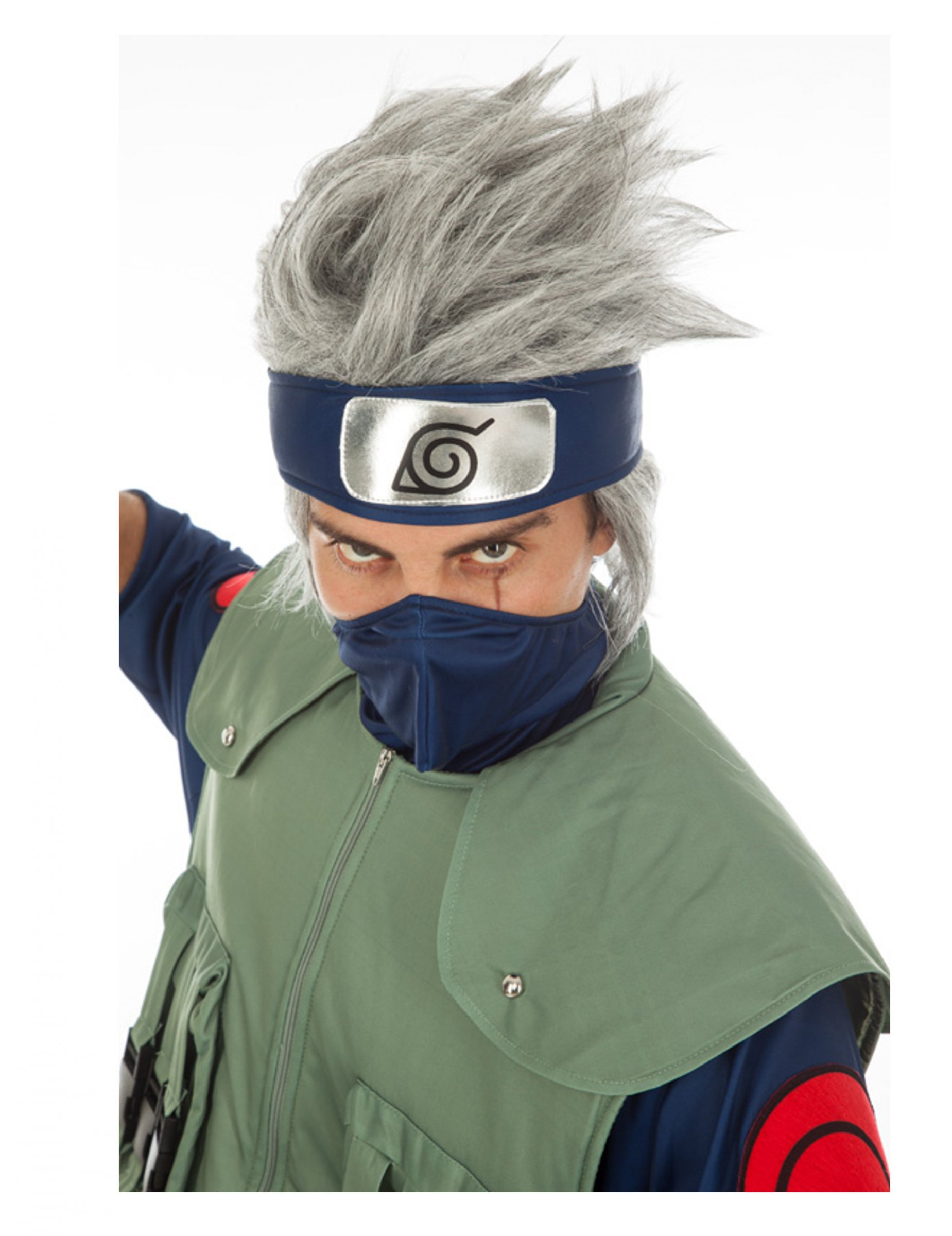 Perruque Kakashi Hatake Naruto adulte
